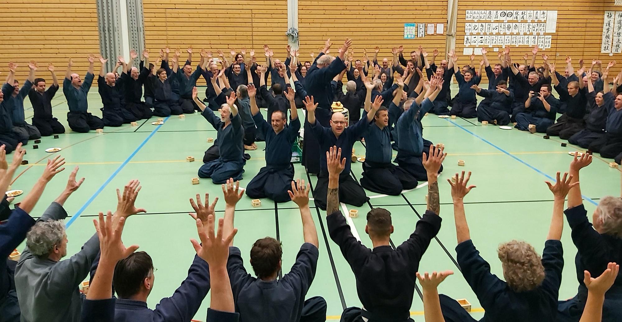 03 - 05 января 2020, прошла традиционная новогодняя встреча Кагамибираки Синто Мусо рю Европейской.